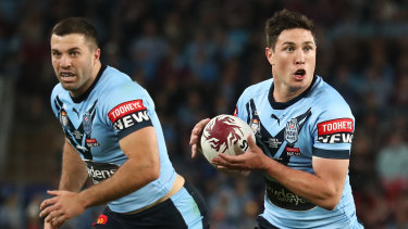Tough Eel ... Mitchell Moses will miss two to three weeks after suffering a fracture in his back in Origin III.
