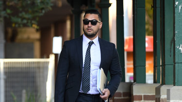 Salim Mehajer arrives at Parramatta court on Wednesday.