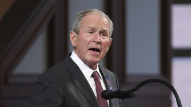 Critical of the withdrawal: former President George W. Bush.