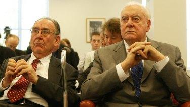 Speechwriter Graham Freudenberg with former prime minister Gough Whitlam in 2005.