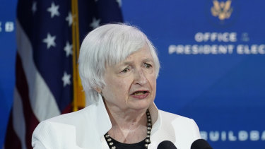 """Janet Yellen said the economic damage caused by the coronavirus was an """"American tragedy""""."""