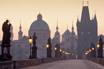 Prague's famous Charles Bridge, named after King Charles IV. The foundation stone was laid in 1357.