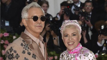 Baz Luhrmann, left, and Catherine Martin, up to their necks in Elvis.