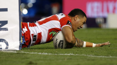 Cup protector: Tyson Frizell.