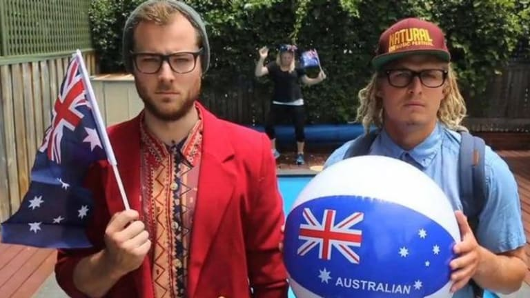 Radio breakfast hosts Will McMahon (left), and Woody Whitelaw (right) fail to fire.