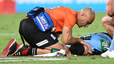Blues doctor Nathan Gibbs said Cody Walker was recovering well after being knocked out in the closing stages.