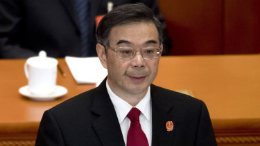 China's Chief Justice Zhou Qiang delivers a report on the country's legal system.