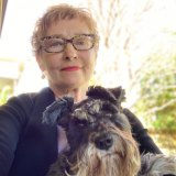 Marilyn Nelson, with dog Zelda, learnt she had lung cancer by accident.