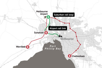 The Suburban Rail Loop will connect Melbourne's western and south-eastern suburbs.