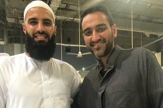 Bachar Houli and Waleed Aly in 2018, together on the Umrah, a pilgrimage to Mecca that Muslims can make at any time of year.