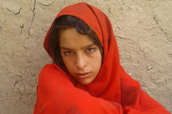One of the daughters of deceased Afghan villager Ali Jan.