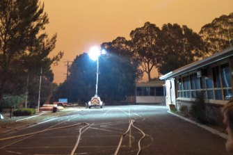 Many Cann River residents spent the past two nights at the local school.