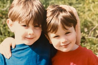 Constable Josh Prestney's brother Alex posted these photos of him and his brother on Facebook from when they were younger. Picture: Facebook.