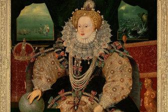 """The 16th century """"Armada Portrait"""" of Britain's Queen Elizabeth I."""