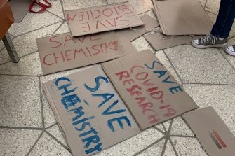 UWA PhD students make a stand against cuts to molecular sciences.