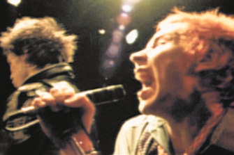The Sex Pistols on stage.