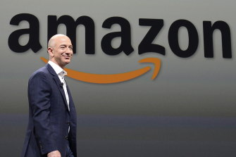 "Amazon founder Jeff Bezos. The company's latest result has pushed the tech giant back into the ""trillion US dollar club""."