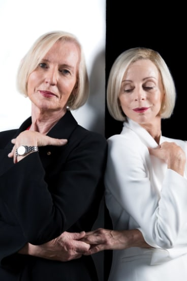 Catherine McGregor, left, and Heather Mitchell, who played Catherine in a Sydney Theatre Company play in April.