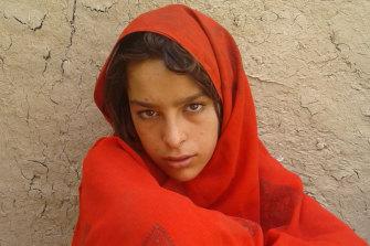 One of the daughters of deceased Afghan villager Ali Jan.