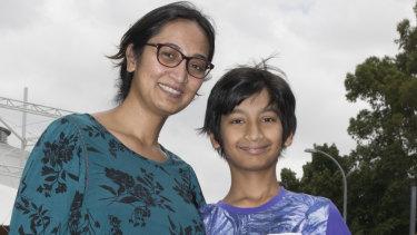 Alia with her son, Daniyar.