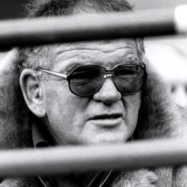 Simpler times: Jack Gibson with his famous fur coat.