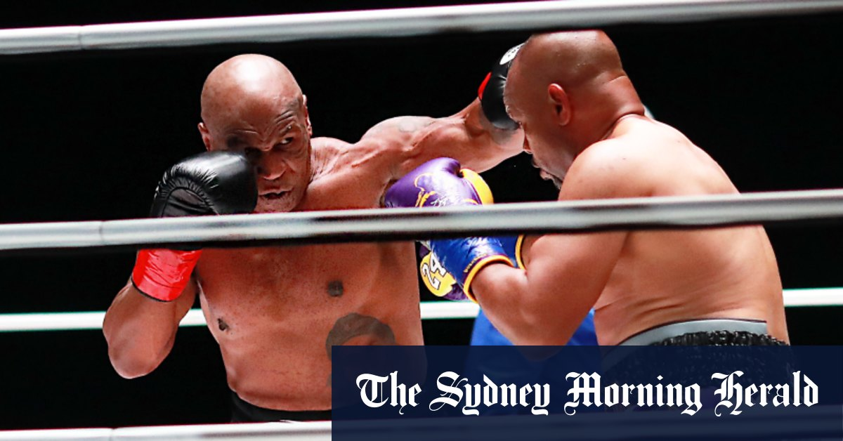 'We're humanitarians now': Mike Tyson Roy Jones jnr draw on return to ring – Sydney Morning Herald