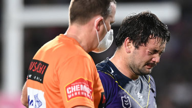 Brandon Smith broke down in tears when he thought his season was over with a facial fracture.