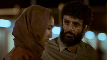 Fayssal Bazzi, pictured with Soraya Heidari, plays Afghan refugee Ameer in ABC drama, Stateless.