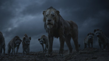 Florence Kasumba, Eric Andre and Keegan-Michael Key voice the hyenas, and Chiwetal Ejiofor is the voice of Scar in The Lion King, directed by Jon Favreau.