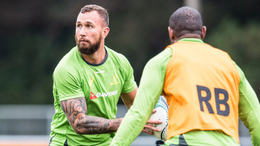 Going nowhere: Quade Cooper says he'll stay in Queensland, but wants to play for the Wallabies again.