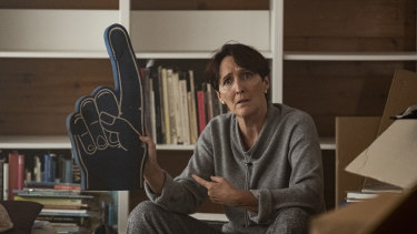 Fiona Shaw plays the cryptic and fierce MI6 boss Carolyn in Killing Eve.