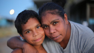 Through the eyes of 10-year-old Dujuan (pictured with mother Megan Hoosan)  In My Blood It Runs documents the failings of mainstream education for First Nations kids.