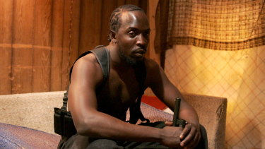 Michael K. Williams as Omar in The Wire; with the help of captions viewers were better able to understand the Baltimore street-speak.