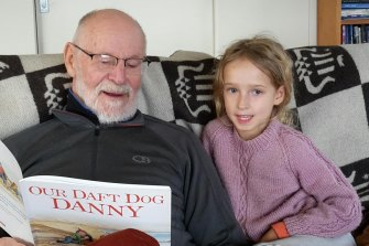 Bob Sharples with granddaughter Lucia back in July.