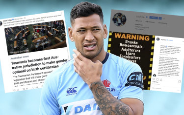 Making his point quite clearly: Israel Folau's social media posts.