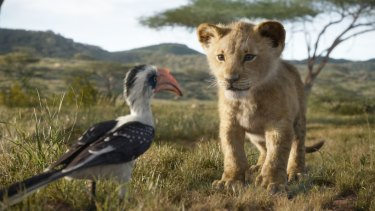 The Lion King features the voices of John Oliver as Zazu, and JD McCrary as Young Simba.