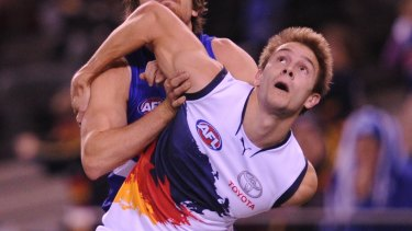 Former Adelaide player Sam Shaw is suing over concussion sustained in a lower league match.