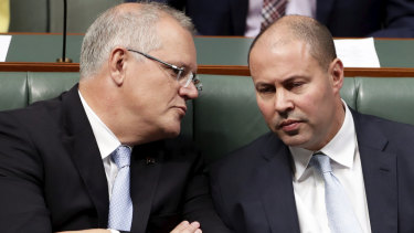 Scott Morrison and Josh Frydenberg say Australia is still growing faster than any G7 nation with the exception of the United States.