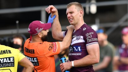 'Could be  a rotator cuff': Trbojevic injured as Titans demolish Manly