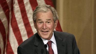 Former president George W Bush.