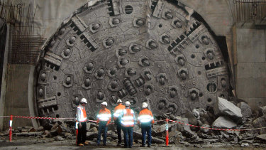 The $50 million boring machine named Matilda on the Clem7 tunnel in Brisbane.