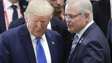 US President Donald Trump and Prime Minister Scott Morrison at the G20.