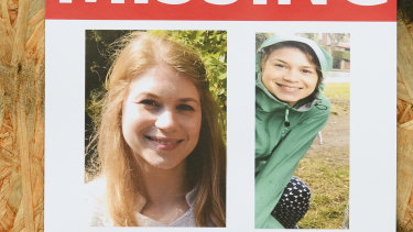 Posters are seen along the last known route as the hunt for missing woman Sarah Everard enters it's fifth day in London, England.