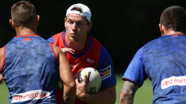 Old hand: The Knights' experienced recruit from the Storm, Tim Glasby, is like an extra coach for Newcastle.