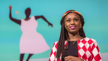 Kenyan director Wanuri Kahiu spoke at TED2017.