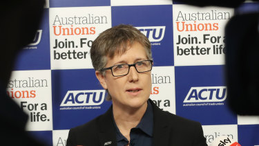 ACTU secretary Sally McManus has rejected any trade offs that would leave workers worse off.