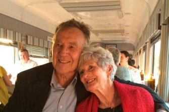 Brian and Helene on Helene's 80th birthday.