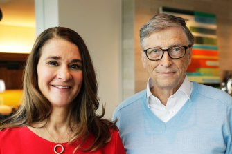 Microsoft co-founder Bill Gates and his wife Melinda.