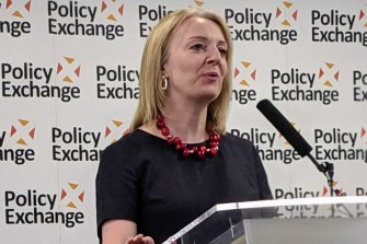 "UK Trade Secretary Liz Truss says Tony Abbott is an ""inspiration"" to Conservatives."