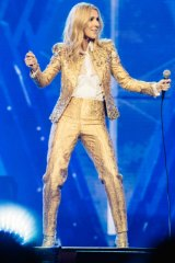 Celine Dion performing in her Live 2018 Australian tour.